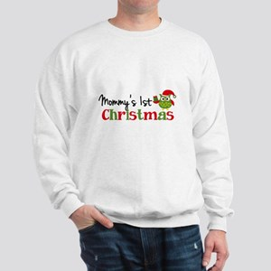 Mommy's 1st Christmas Owl Sweatshirt