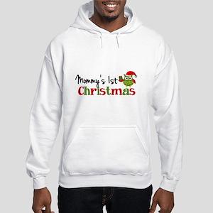 Mommy's 1st Christmas Owl Hooded Sweatshirt