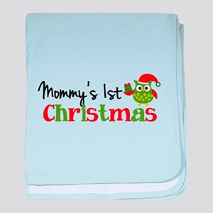 Mommy's 1st Christmas Owl baby blanket