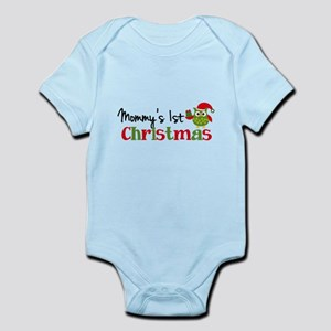 Mommy's 1st Christmas Owl Infant Bodysuit