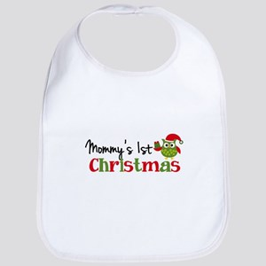 Mommy's 1st Christmas Owl Bib