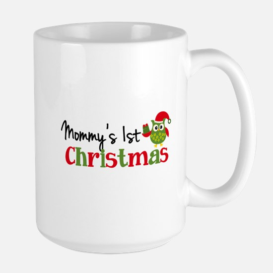 Mommy's 1st Christmas Owl Large Mug
