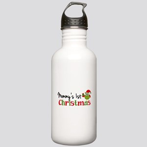 Mommy's 1st Christmas Owl Stainless Water Bottle 1