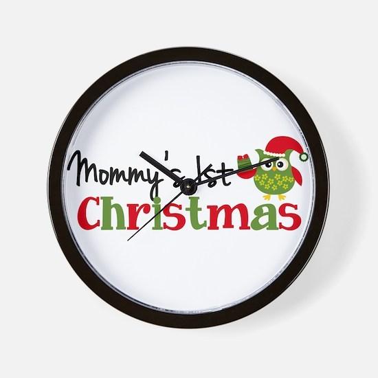 Mommy's 1st Christmas Owl Wall Clock