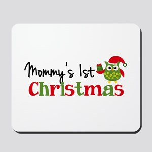 Mommy's 1st Christmas Owl Mousepad