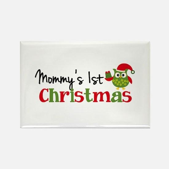 Mommy's 1st Christmas Owl Rectangle Magnet