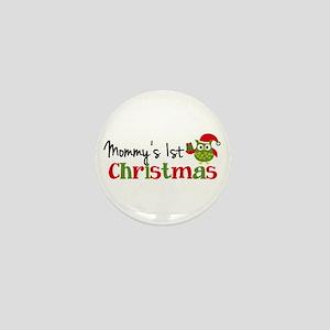 Mommy's 1st Christmas Owl Mini Button