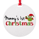 Babys first christmas 2018 Round Ornament