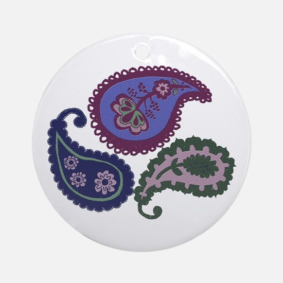 Textured Paisley Ornament (Round)