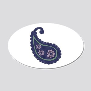 Textured Paisley 20x12 Oval Wall Decal