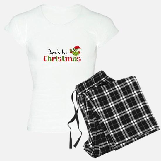 Papa's 1st Christmas Owl Pajamas