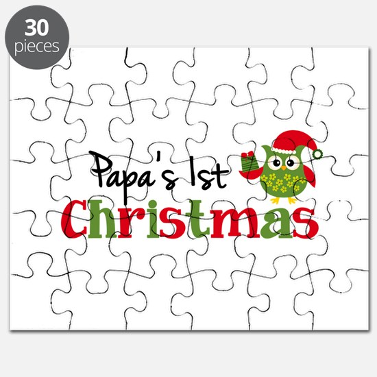 Papa's 1st Christmas Owl Puzzle