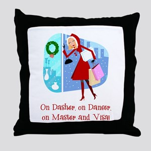 mastervisa Throw Pillow