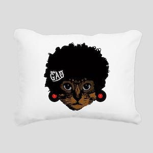 Cat Afro Rectangular Canvas Pillow