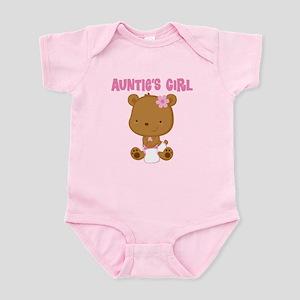 Auntie's Girl Teddy Bear Infant Bodysuit