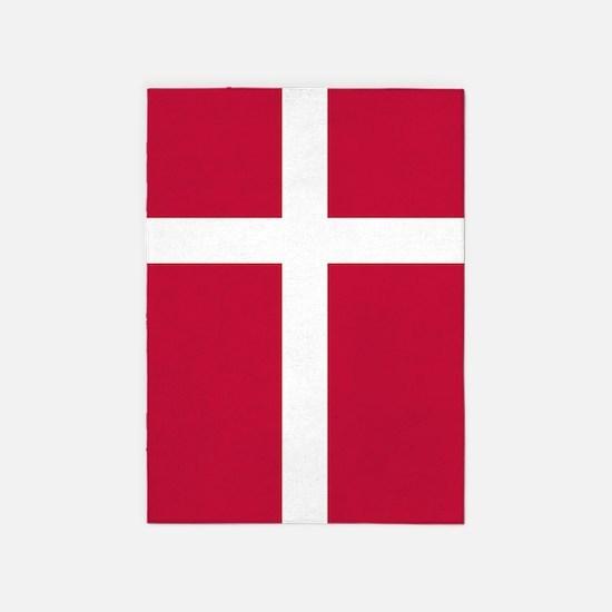 Danish Flag 5'x7'Area Rug