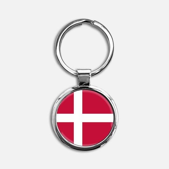 Danish Flag Keychains