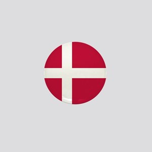 Danish Flag Mini Button
