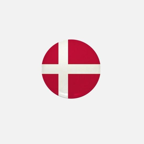 Danish Flag Mini Button