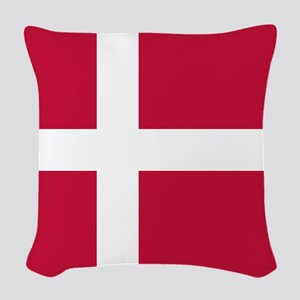 Danish Flag Woven Throw Pillow