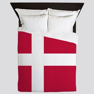 Danish Flag Queen Duvet
