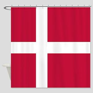 Danish Flag Shower Curtain