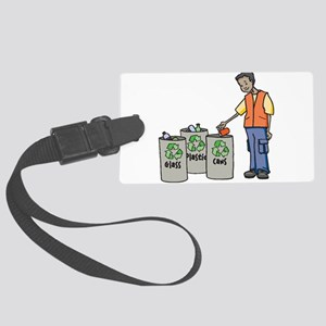 Recycling Trash Cans Luggage Tag