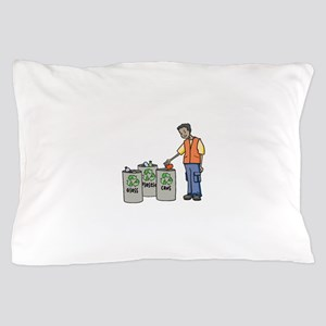 Recycling Trash Cans Pillow Case
