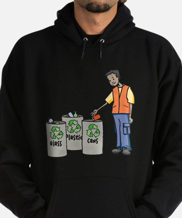 Recycling Trash Cans Hoodie