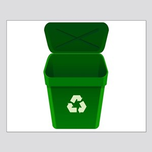 Green Recycling Trash Can Posters