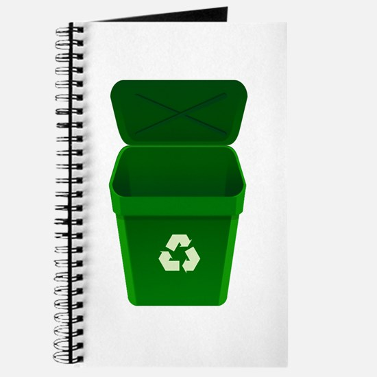 Green Recycling Trash Can Journal