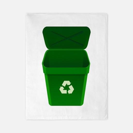 Green Recycling Trash Can Twin Duvet