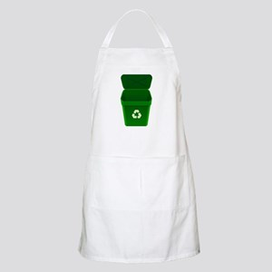 Green Recycling Trash Can Apron
