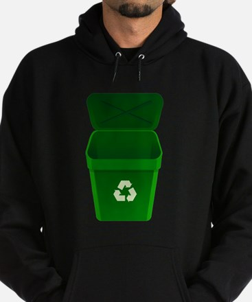 Green Recycling Trash Can Hoodie