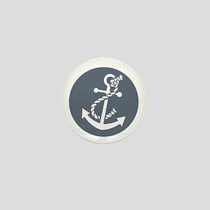 Nautical Anchor Mini Button