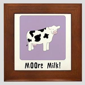 Moore Milk! Framed Tile