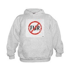 Kid's No Fur Hoody Sweatshirt