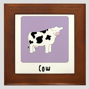 Cow Framed Tile