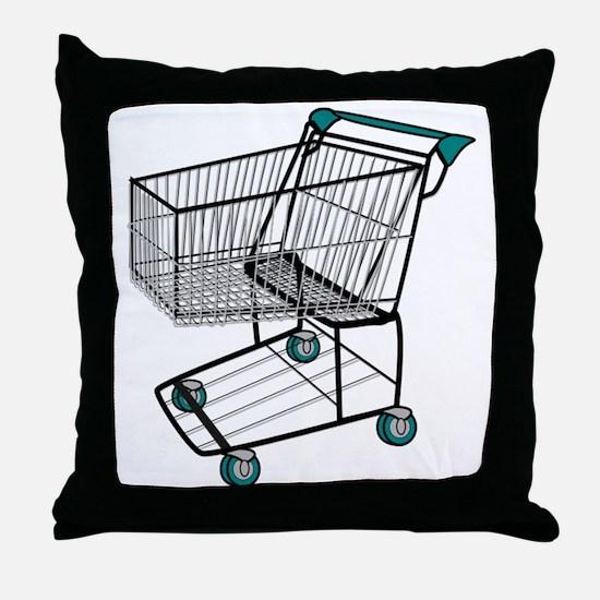 Shopping Cart Throw Pillow