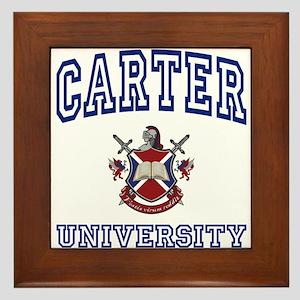 CARTER University Framed Tile