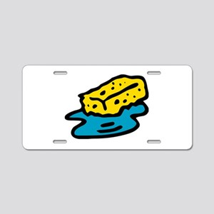 Water Sponge Aluminum License Plate