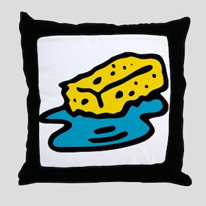 Water Sponge Throw Pillow