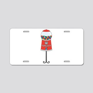 Gumball Machine Aluminum License Plate