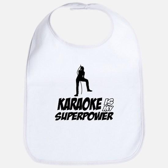 Karaoke is my Superpower Bib