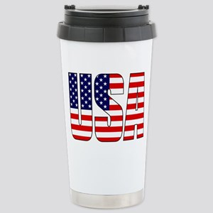 USA Flag Stainless Steel Travel Mug