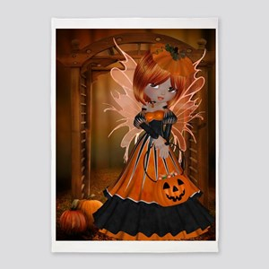 Pumpkin Fairy 5'x7'Area Rug