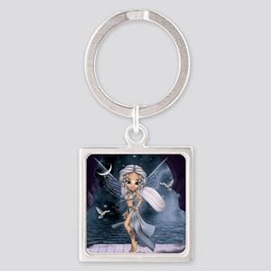 """Aphrodite """"Goddess of Love and Bea Square Keychain"""