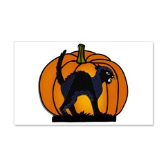 Halloween Black Cat Pumpkin - Wall Decal