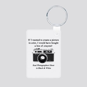 Black And White Photographer Keychains