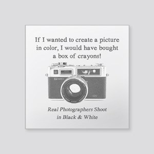 Black And White Photographer Sticker